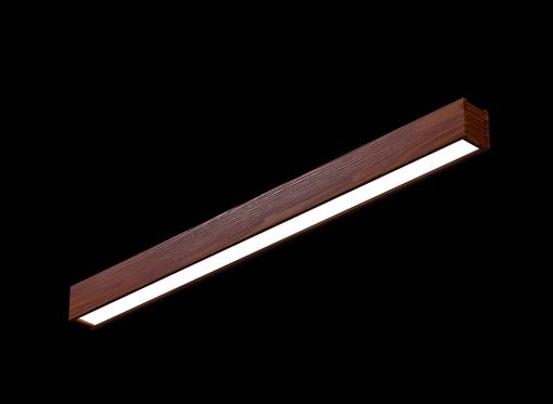 Накладной линейный светильник (масло махагон)
