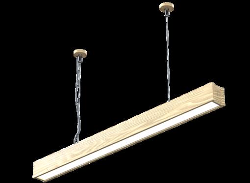 Подвесной линейный светильник (бесцветное масло)