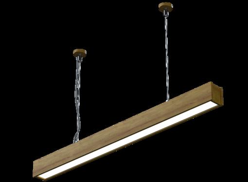 Подвесной линейный светильник (масло дуб)
