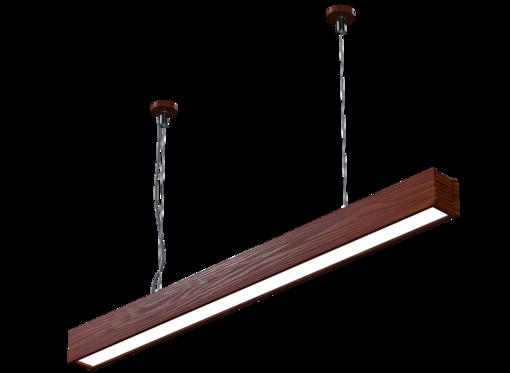Подвесной линейный светильник (масло махагон)