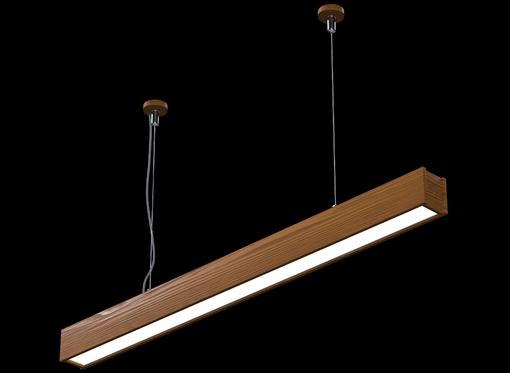 Подвесной линейный светильник (масло орех)
