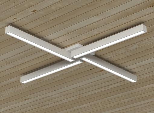Накладной линейный светильник, платформа4 (белое масло)