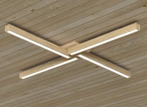 Накладной линейный светильник, платформа4 (бесцветное масло)
