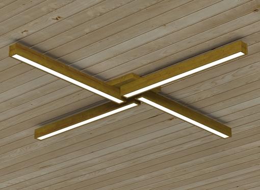 Накладной линейный светильник, платформа4 (масло дуб)