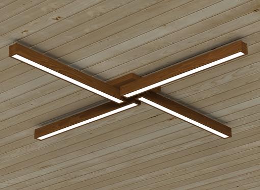 Накладной линейный светильник, платформа4 (масло орех)