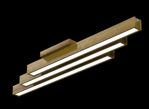 Накладной линейный светильник, платформа (масло дуб)