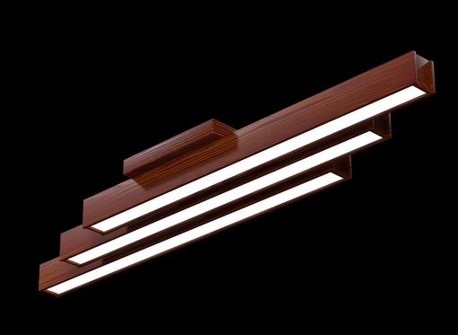 Накладной линейный светильник, платформа (масло махагон)