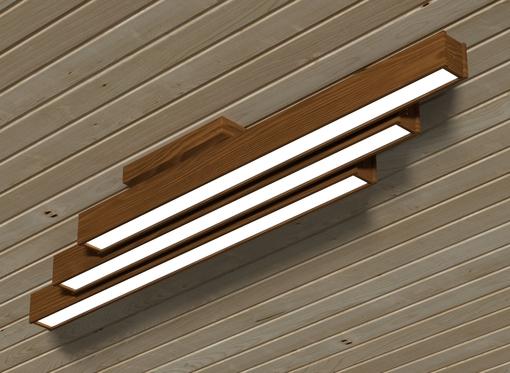 Накладной линейный светильник, платформа3 (масло орех)